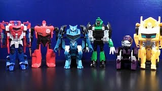 TRANSFORMERS ROBOTS IN DISGUISE: ROBOTS IN DISGUISE COLLECTION SET VIDEO TOY REVIEW