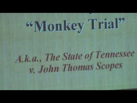 The Scopes Monkey Trial Part 1 of 2