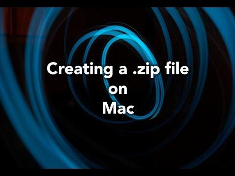 make a zip file mac