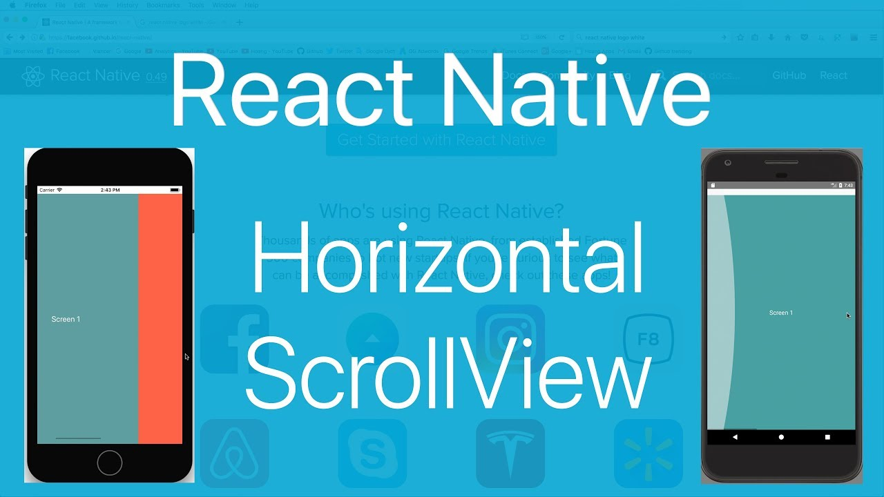 15-ScrollView#2 Draw a horizontal ScrollView like Page