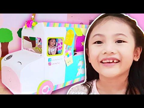 Little Big Toys Barbie Ice Cream Truck !