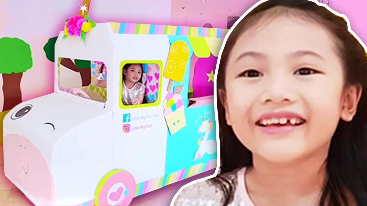 Little Big Toys Barbie Ice Cream Truck Youtube