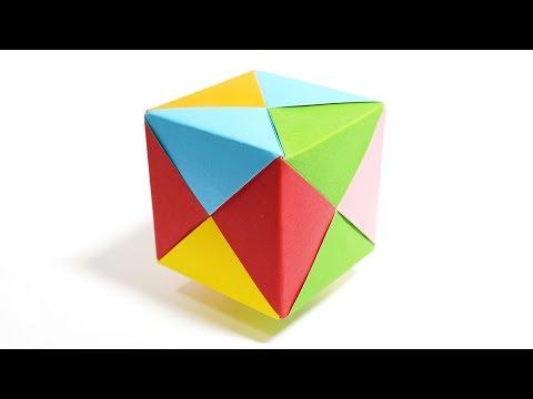 Origami Color Cube (M.Sonobe) - Paper Folding / Papier Falten / 종이접기 / Paper Crafts / おりがみ