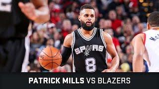 Patrick Mills Highlights: 23 PTS, 5 AST, 2 STL vs Blazers (23.12.2016)