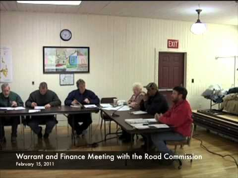 Warrant and Finance - Road Committee - 02-15-2011