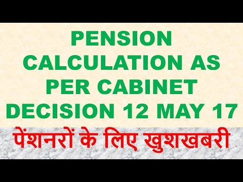 Know your Revised Pension/Family Pension as per Cabinet Decision For pre 2016 retired pensioner