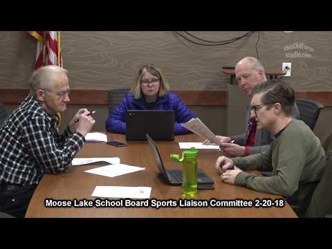 Moose Lake School Board Sports Liaison Committee 2-20-18