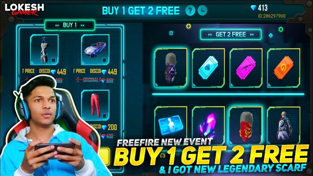 New Buy 1 Get 2 Free Event I Got New Shadow Mask Skin &  Got New Legendary Bundle Garena Free Fire