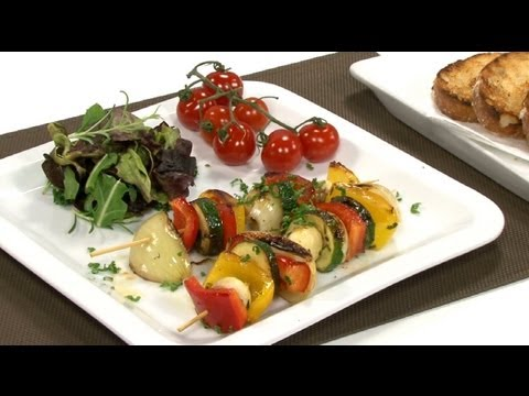 Grilovaný zeleninový špíz