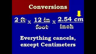 Conversion Video feet to centimeters and back again