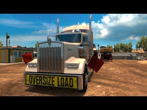 American Truck Simulator - Bulldozer - Heavy Cargo Gameplay (PC HD) [1080p60FPS]