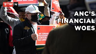 Description: ANC staff members picketed outside the governing party's headquarters on 15 June 2021 following delays and non-payment of salaries. Deputy secretary-general of the ANC Jessie Duarte accepted their memorandum of demands.