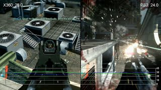 Crysis 2: Xbox 360 vs PS3 Gameplay Frame-Rate Test
