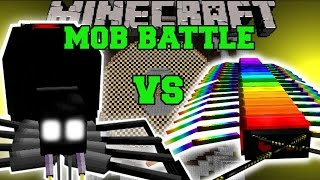 BLACK WIDOW VS RAINBOW CENTIPEDE - Minecraft Mob Battles - Minecraft Mids