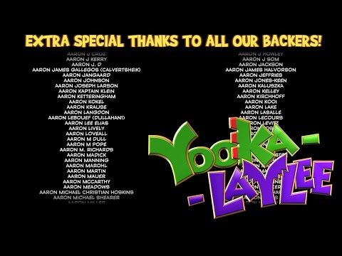 Yooka- Laylee 3-Hour Credits + Campaign Backers!