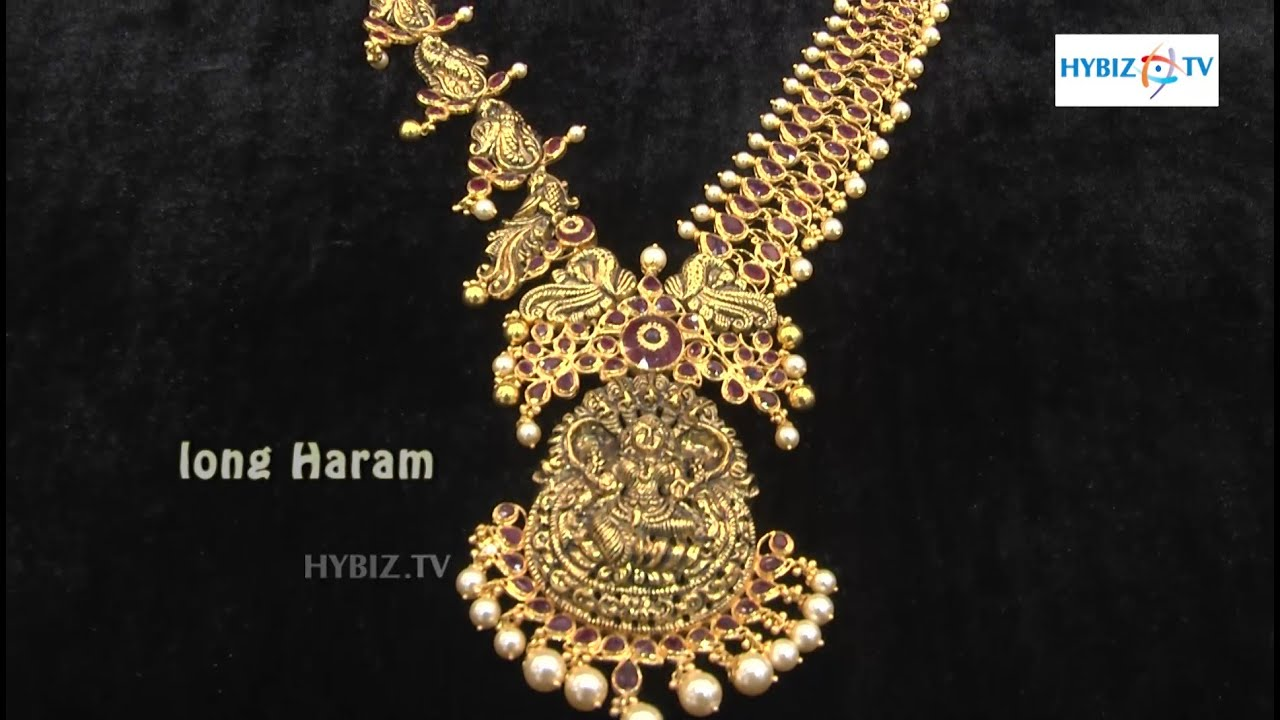Ruby Antique Long Chain latest Jewellery designs @ Malabar