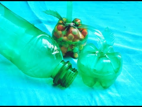 How to Make Plastic Bottle Apple | Recycled Bottles | Suchi Planet
