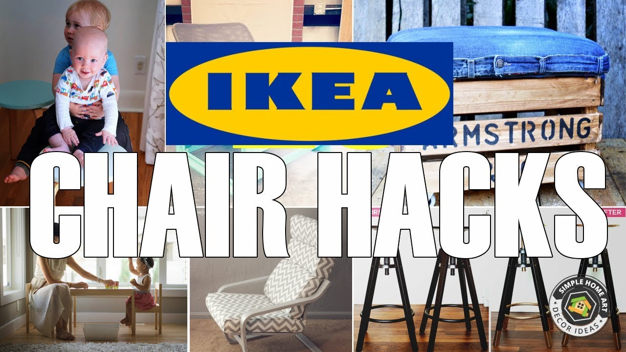 28 Sweet IKEA Chair Hacks  YouTube
