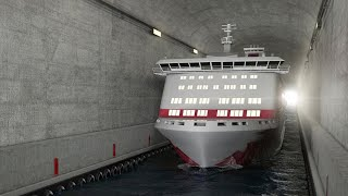 Norway to spend $315m building world's first ship tunnel; Floating underwater tunnels - Compilation