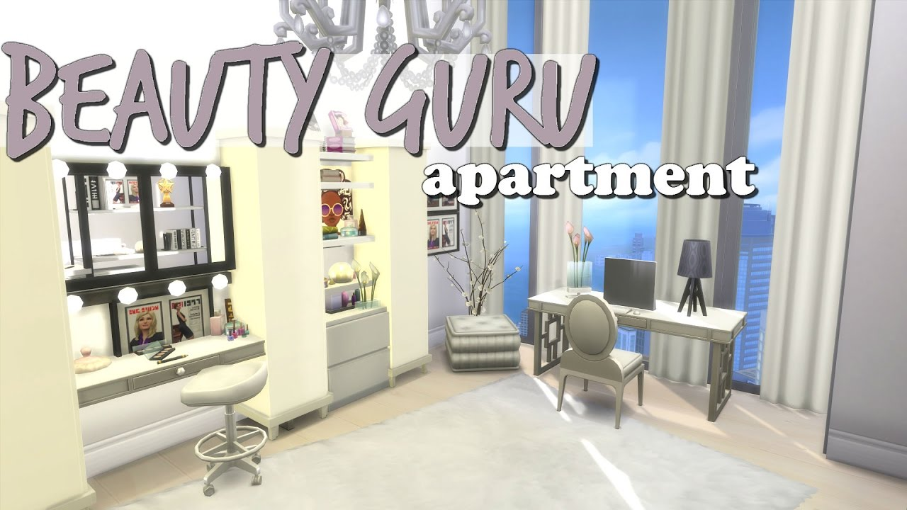 The sims 4 speed build beauty guru apartment youtube for Salon moderne sims 4