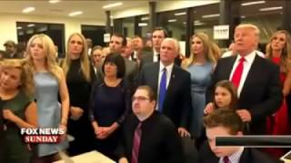 The Moment Donald Trump Found Out He Won The US Presidential Election