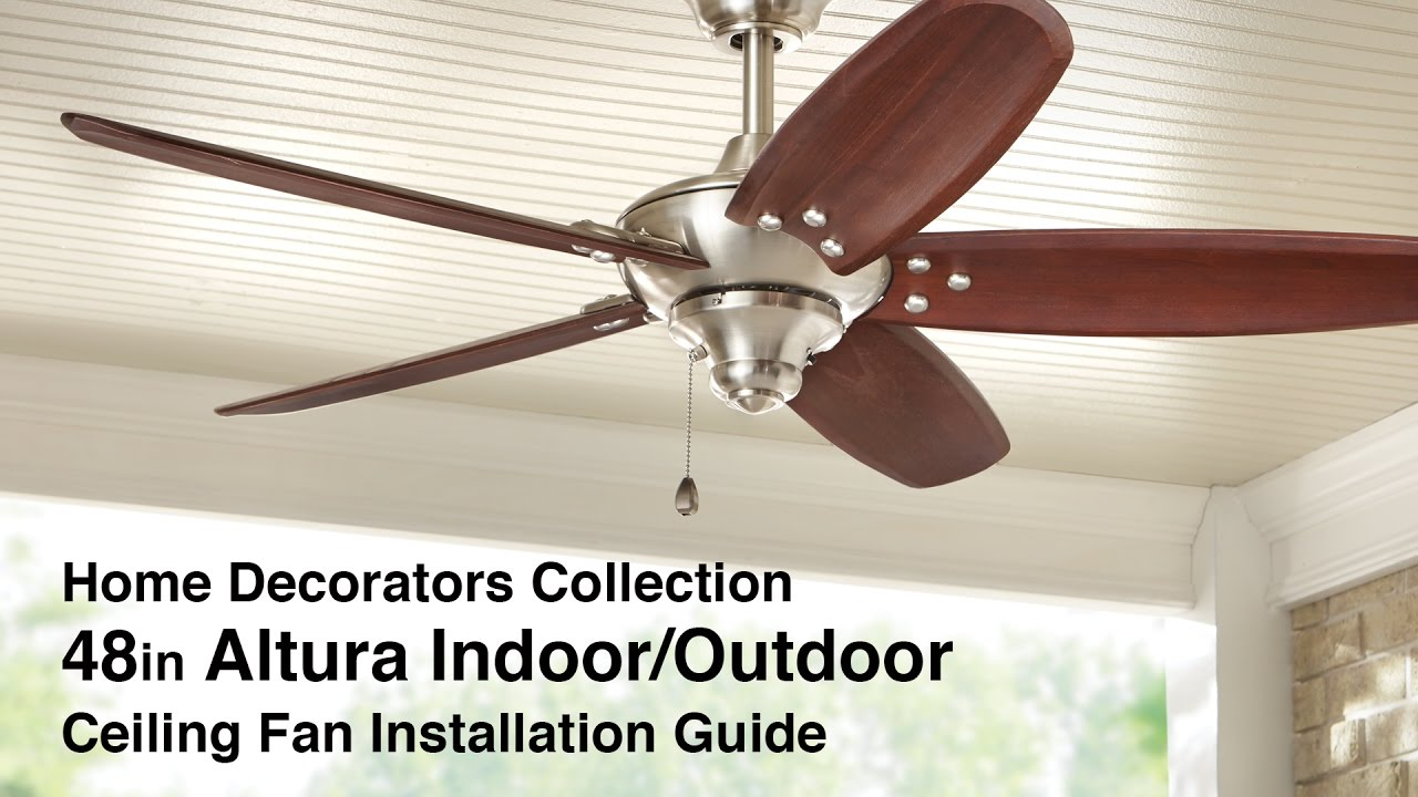 Wiring a ceiling fan hampton bay altura circuit connection diagram how to install 48 in altura ceiling fan by home decorators rh youtube com hampton bay huntington ceiling fans hampton bay huntington ceiling fans aloadofball Choice Image