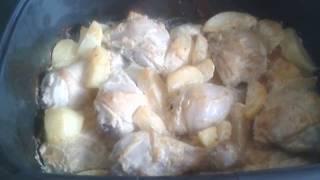 Картофель с курицей запеченные в духовке