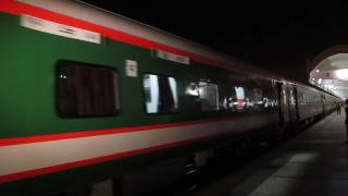 6504-764 down chitra express leaving dhaka in its inaugral day with brand new LHB coaches