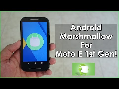 CyanogenMod 13 For Moto E! Android Marshmallow!