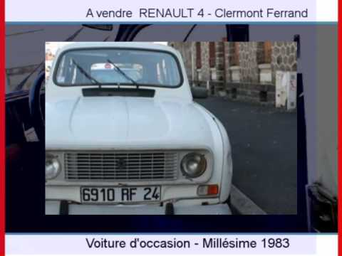 achat vente une renault 4 clermont ferrand youtube. Black Bedroom Furniture Sets. Home Design Ideas