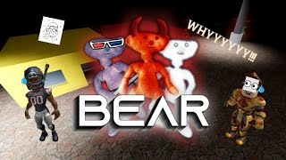 Playing Bear in Roblox with friend