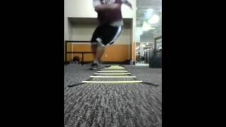 Big guy on a Speed Ladder workouts