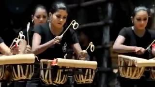 Sri Lankan Girls Drums Playing Skill