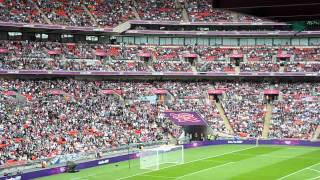 "London 2012 Olympics Senegal v Uruguay Mens Football ""Fans Mexican Wave"" Wembley Stadium 29/07/12 HD"