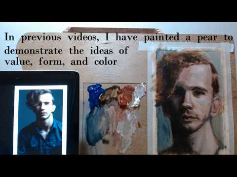 Portrait painting lesson (part 2) – Step by step tutorial with commentary – acrylic portrait
