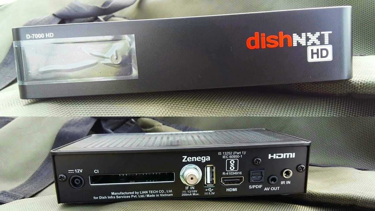 Dish TV NXT HD Set Top Box D-7000 Unboxing & Installation