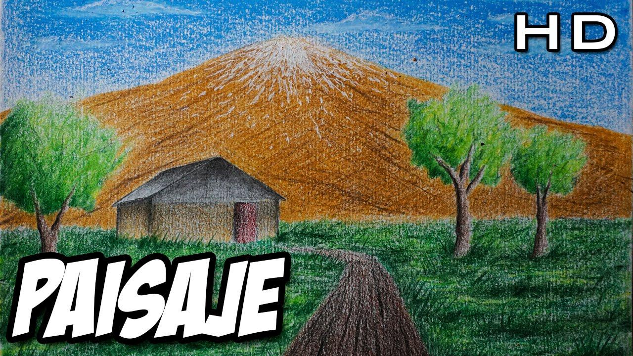 C mo dibujar un paisaje sencillo con l pices de colores for Como se hace un lago artificial