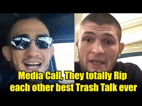 Khabib Nurmagomedov vs. Tony Ferguson Media call, They totally Rip each other best Trash Talk ever