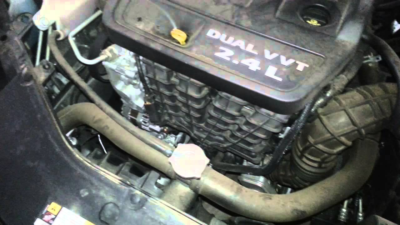 hight resolution of 2012 dodge avenger 2 4l i4 engine idling after motor oil change spark plug check