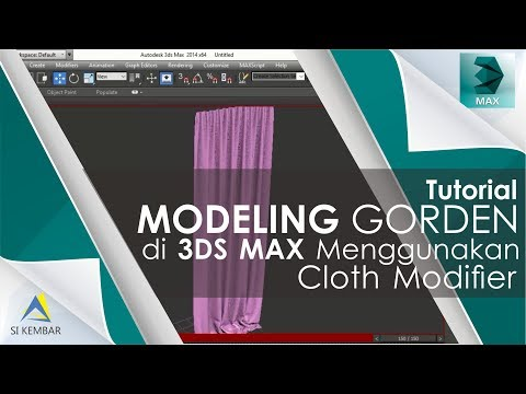 Curtain modeling in 3DS MAX With Cloth Modifier #Tutorial Modeling Gorden 3DS MAX