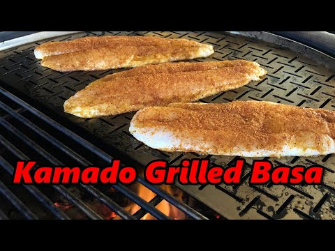 Kamado Grilled Basa Fillets