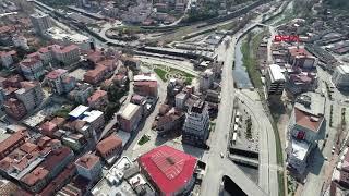 Zonguldak'ta sokaklar boşaldı (Havadan görüntülerle)