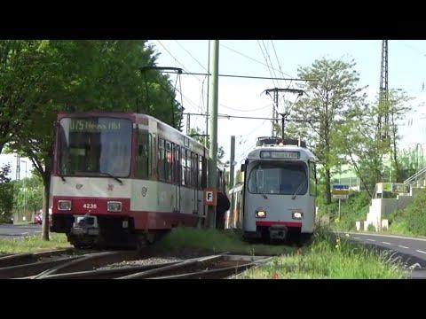 GT8SU und B80 in Düsseldorf | Linie U75 Düsseldorf - Neuss
