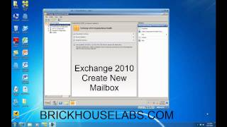 Create New Exchange 2010 Mailbox And User Account