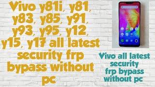 Pc Vivo Y95 Frp Bypass - Bikeriverside