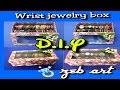 DIY Wrist Jewelry Box (recycling shoe box, bottle caps and wrapping paper rolls)