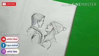 easy couple pen drawing simple beginners sketch draw using