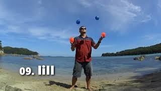 09  IiII | Жонглирование 4 мячами | [РУКИ ТРЮКИ] | JUGGLING LESSON