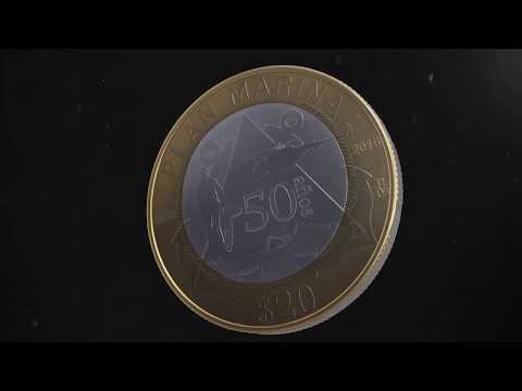 Moneda de 20 pesos, conmemorativa del 50 Aniversario de la Aplicación del Plan Marina