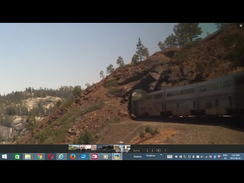 Train across USA: #3 California Zephyr sleeper--Sacramento-Sierra Nevada tunnels-Reno 2016-05-10